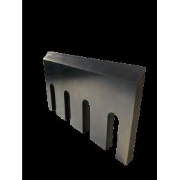 Lame adaptable de 295 x 178 x 20 mm sur déchiqueteuses incliné