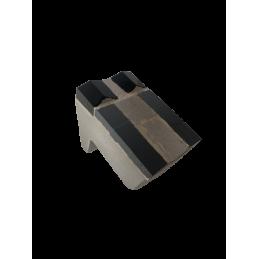 Marteau deux pointes avec insert + sept plaquettes en renforts pour broyeurs de pierres